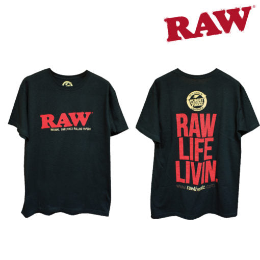 "Raw Mens ""Raw Life Livin"" T-Shirt"
