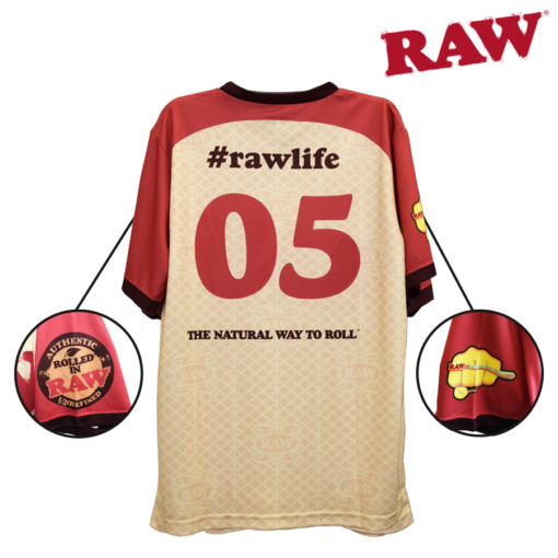 Raw Short Sleeve Sports Jersey backside