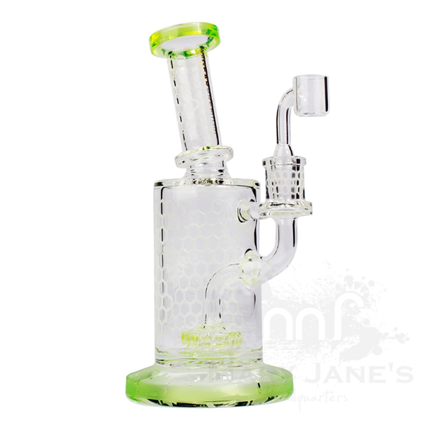 "Gear Premium 8"" Tall Swarm Concentrate Bubbler Dab Rig-Lime Green"