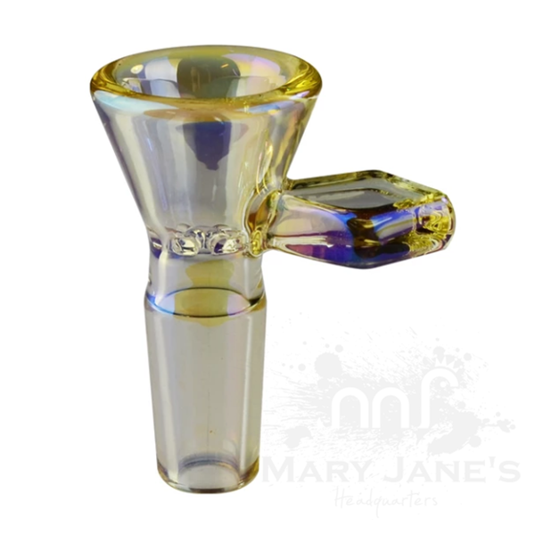 Red Eye Tek 14mm Glass on Glass Bong Bowl W/Diamond Handle-Champaigne