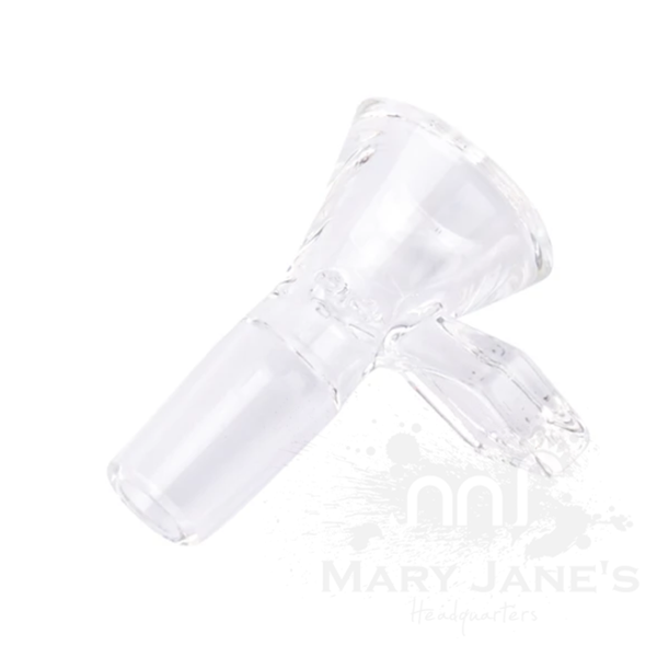 Red Eye Tek 14mm Glass on Glass Bong Bowl W/Diamond Handle-Clear