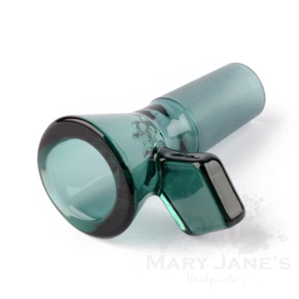 Red Eye Tek 14mm Glass on Glass Bong Bowl W/Diamond Handle-Teal