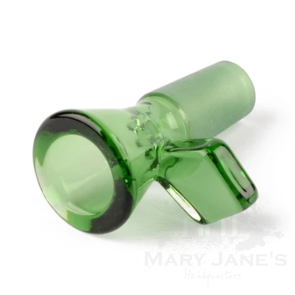 Red Eye Tek 14mm Glass on Glass Bong Bowl W/Diamond Handle-Green