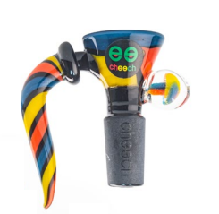 Cheech Glass 14mm Colorful Bong Bowl W/ Handle