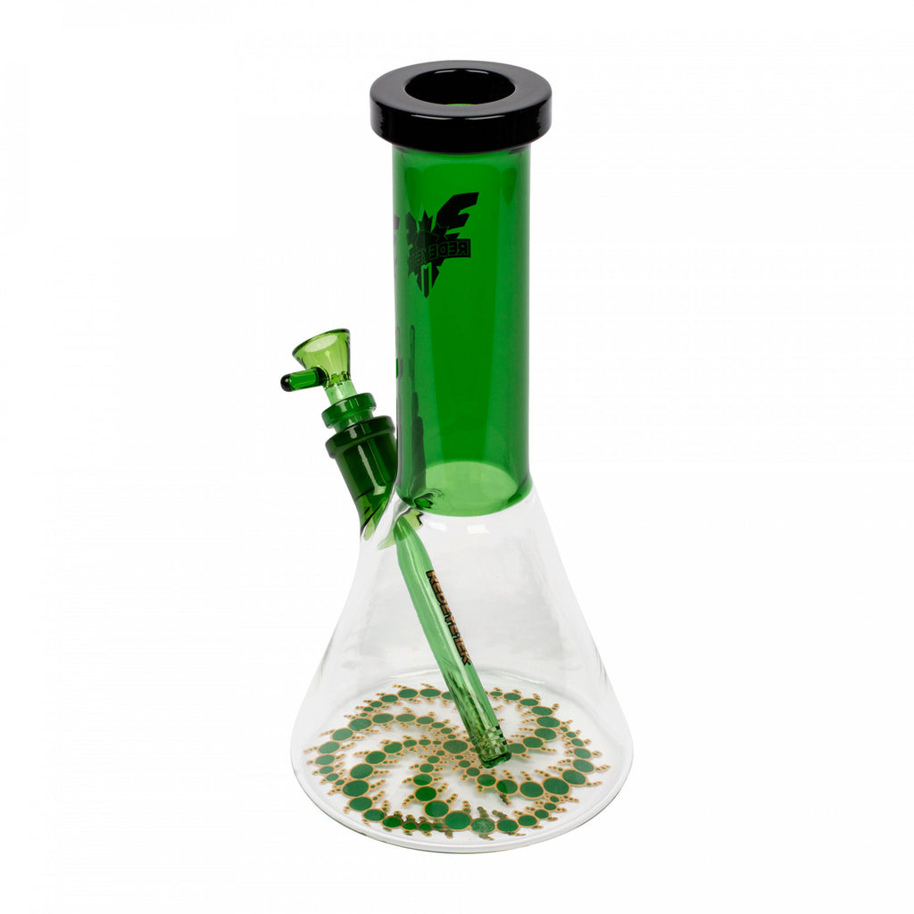 "Red Eye Tek 12"" Tall Alien Invasion Beaker Tube with Crop Circle"