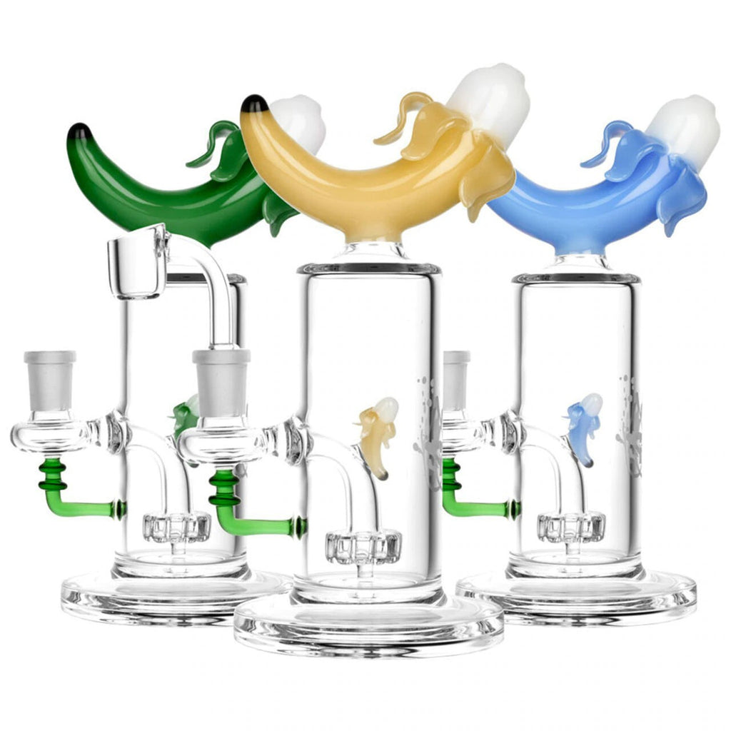 "Pulsar 8"" Banana Dab Rig with Disc Perc"