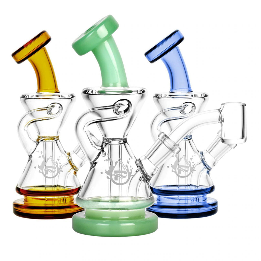 "Pulsar 5.5"" 10mm Recycler Dab Rig with Colour Accents"