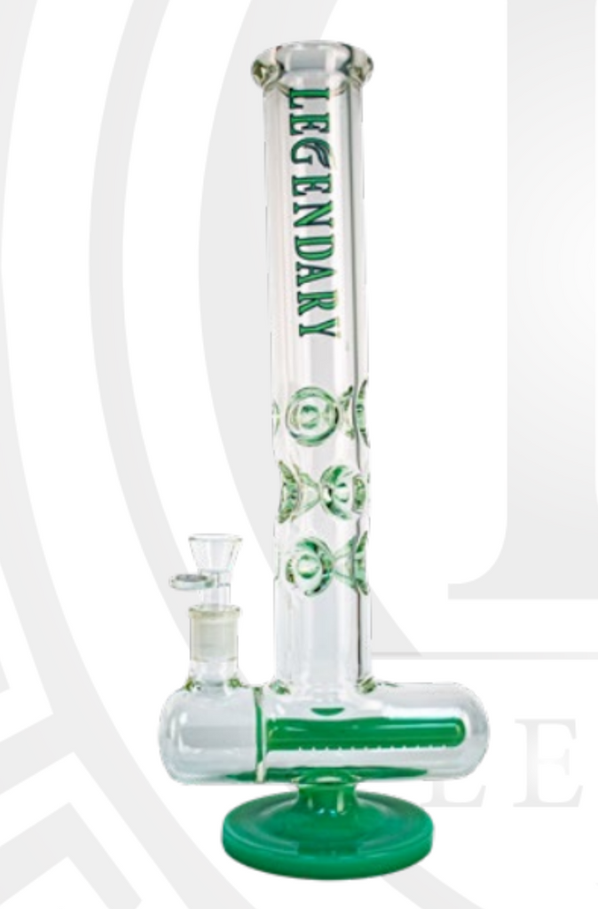 Legendary Tall inline tube bong with multi-ice pinch 17""