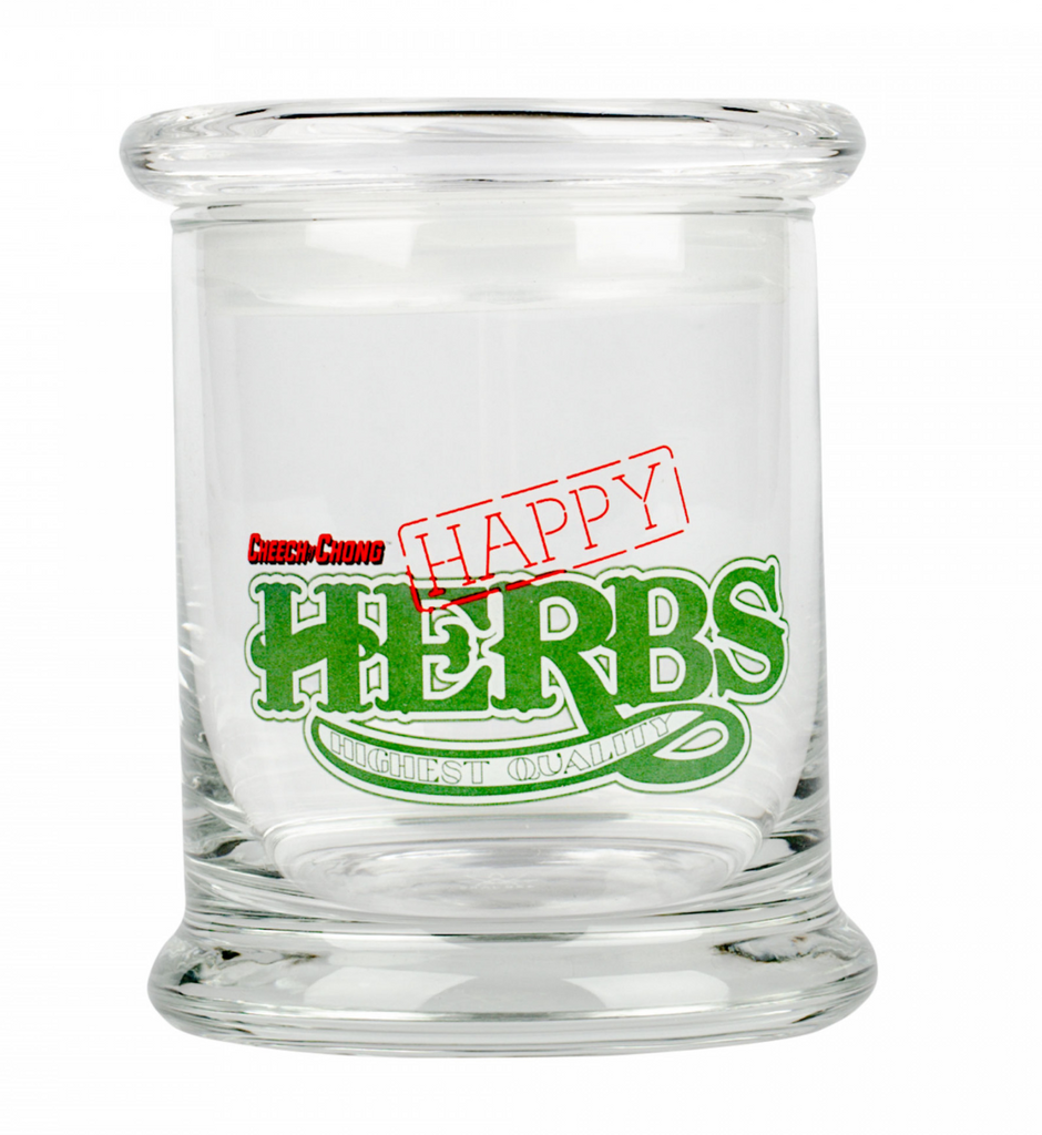 Cheech And Chong Happy Herbs Pop Top Jar