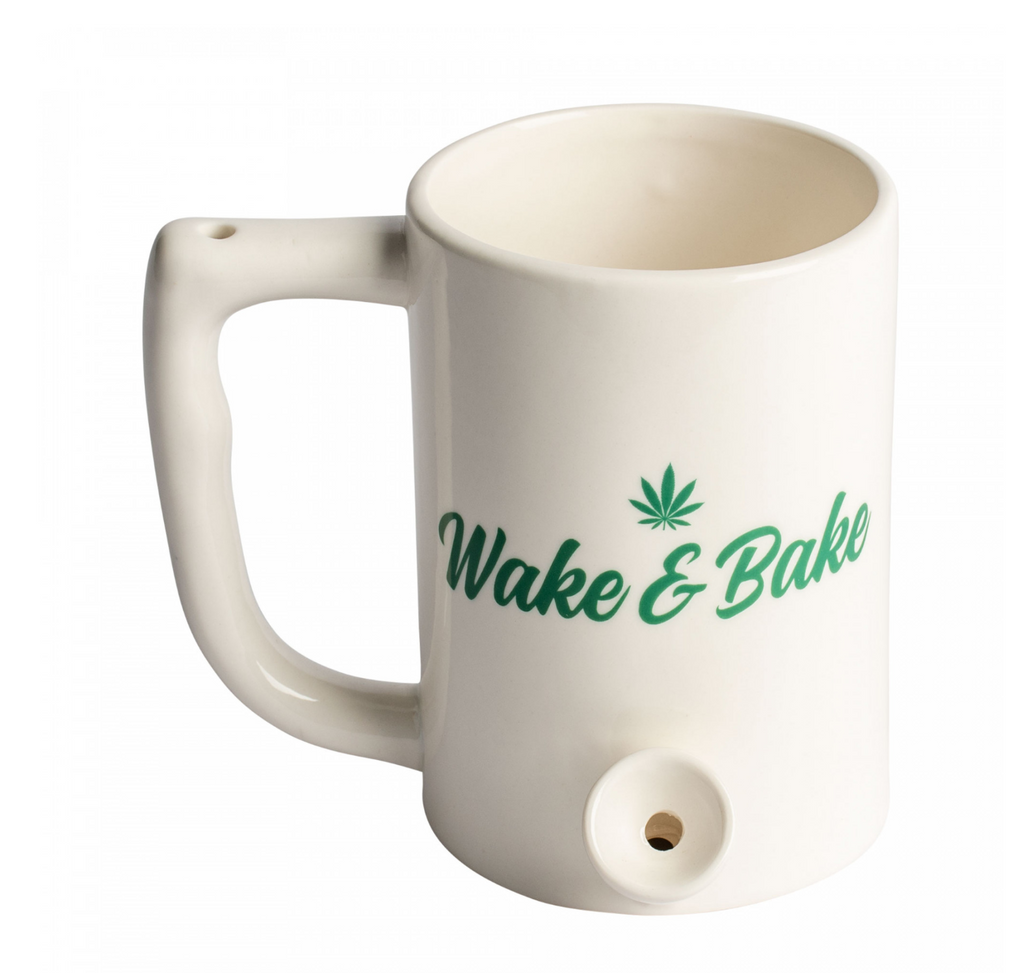 Ceramic Coffee Mug Pipe Wake N Bake
