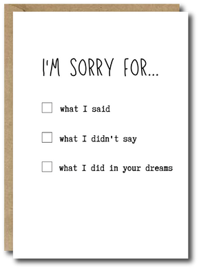 Sorry for...