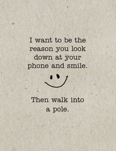 Walk into a Pole