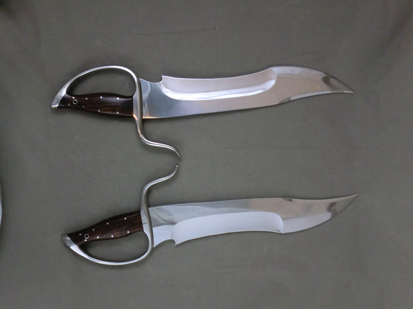 Nightmare/Orca Butterfly Swords Böhler D-2 Blade Steel (Instructor Grade)