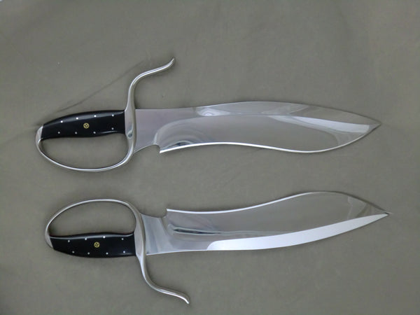 3rd Generation Sasquatch Style Butterfly Swords, Böhler D2 Blade Steel (Collector Grade)