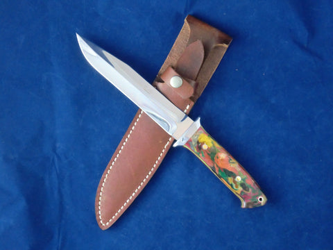 Loveless Style Dixon Fighter (Böhler 440C, Multi) ***Look at My Van Gogh'ish Handle!***