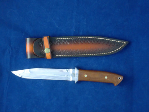 Loveless Style Dixon Fighter (Böhler-Uddeholm D2, Brown)