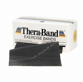 Thera-Band resistive exercise band- 6 Yard- Black
