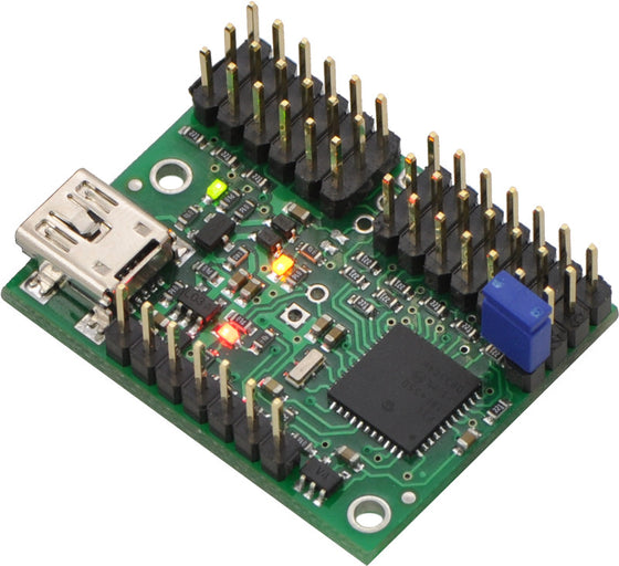 Mini Maestro 12-Channel USB Servo Controller (Assembled) - Chicago Electronic Distributors  - 1