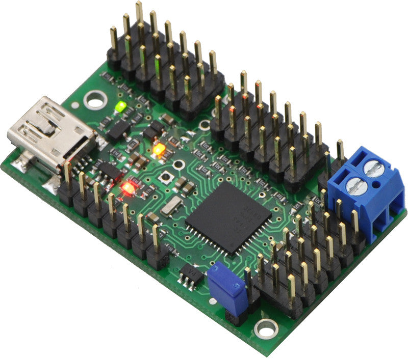 Mini Maestro 12-Channel USB Servo Controller (Assembled) - Chicago Electronic Distributors  - 8
