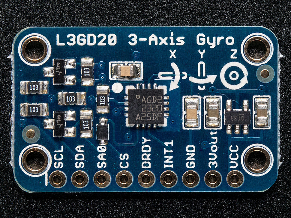 L3GD20 (L3G4200 Upgrade) Triple-Axis Gyro Breakout Board - Chicago Electronic Distributors  - 1