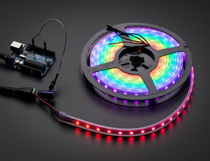 Adafruit NeoPixel Digital RGB LED Weatherproof Strip 60 LED -1m - WHITE - Chicago Electronic Distributors  - 1