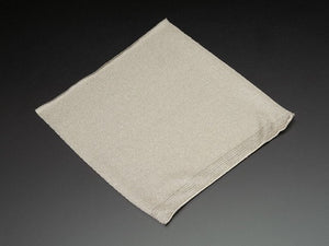 Knit Conductive Fabric - Silver 20cm square - Chicago Electronic Distributors