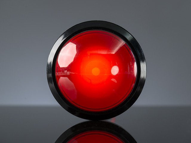 Massive Arcade Button with LED - 100mm Red - Chicago Electronic Distributors