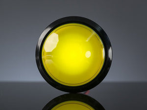 Massive Arcade Button with LED - 100mm Yellow - Chicago Electronic Distributors