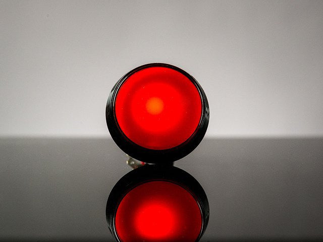 Large Arcade Button with LED - 60mm Red - Chicago Electronic Distributors