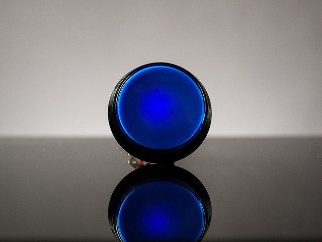 Large Arcade Button with LED - 60mm Blue - Chicago Electronic Distributors