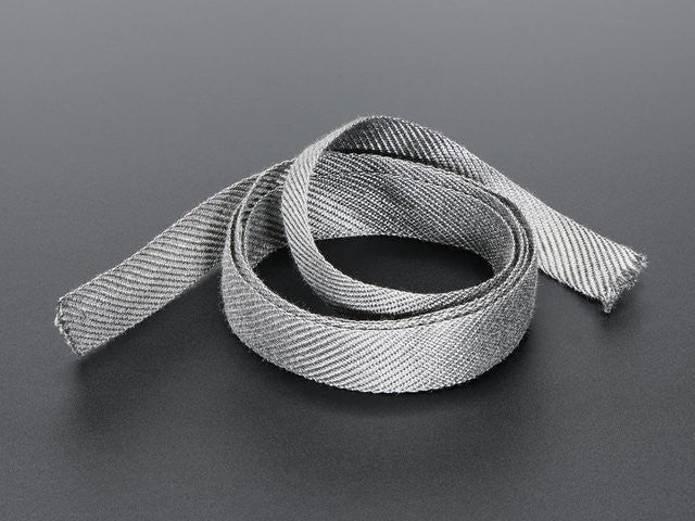 Stainless Steel Conductive Ribbon - 17mm wide 1 meter long - Chicago Electronic Distributors