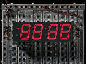 "Red 7-segment clock display - 1.2"" digit height - Chicago Electronic Distributors"
