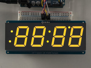 "Adafruit 1.2"" 4-Digit 7-Segment Display w/I2C Backpack - Yellow - Chicago Electronic Distributors  - 2"