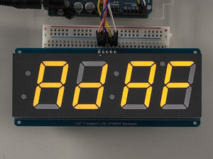"Adafruit 1.2"" 4-Digit 7-Segment Display w/I2C Backpack - Yellow - Chicago Electronic Distributors  - 1"