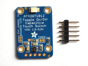 Standalone Toggle Capacitive Touch Sensor Breakout - AT42QT1012 - Chicago Electronic Distributors  - 3