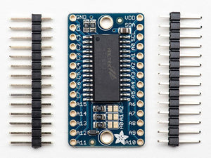 Adafruit 16x8 LED Matrix Driver Backpack -  HT16K33 Breakout - Chicago Electronic Distributors
