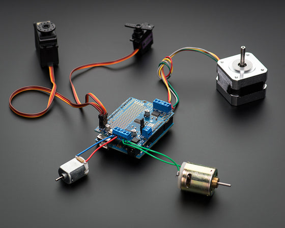 Adafruit Motor/Stepper/Servo Shield for Arduino v2 Kit (v2.3) - Chicago Electronic Distributors  - 1