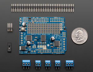 Adafruit Motor/Stepper/Servo Shield for Arduino v2 Kit (v2.3) - Chicago Electronic Distributors  - 2