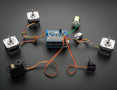 Adafruit Motor/Stepper/Servo Shield for Arduino v2 Kit (v2.3) - Chicago Electronic Distributors  - 3