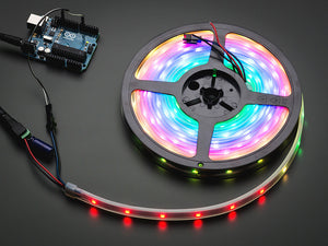 Adafruit NeoPixel Digital RGB LED Strip - Black 30 LED - 1m - Chicago Electronic Distributors  - 1