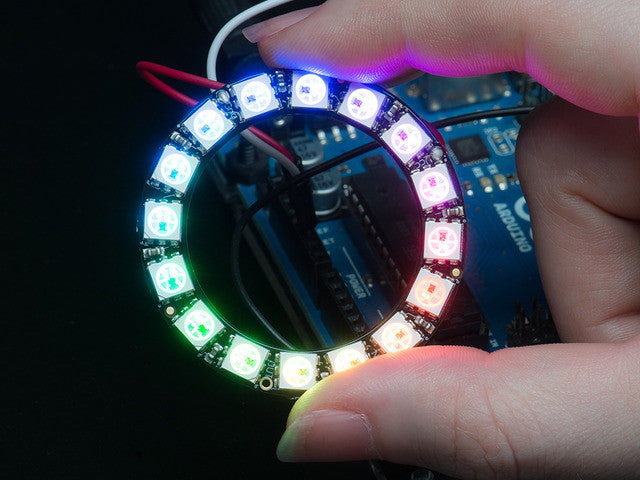 NeoPixel Ring - 16 x WS2812 5050 RGB LED with Integrated Drivers - Chicago Electronic Distributors  - 1