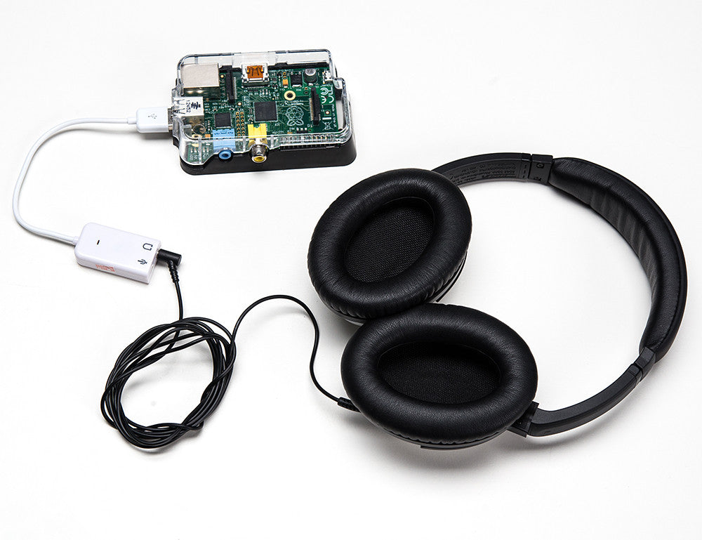USB Audio Adapter - Works with Raspberry Pi - Chicago Electronic Distributors  - 2