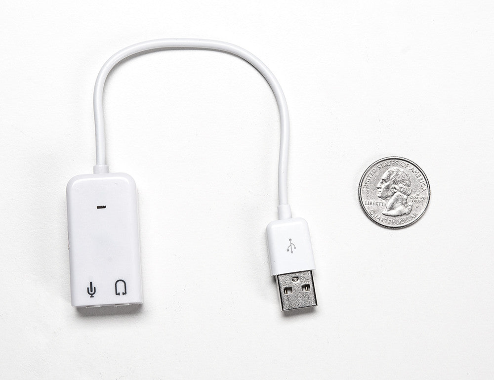 USB Audio Adapter - Works with Raspberry Pi - Chicago Electronic Distributors  - 3