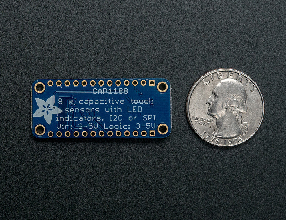 CAP1188 - 8-Key Capacitive Touch Sensor Breakout - I2C or SPI - Chicago Electronic Distributors  - 1