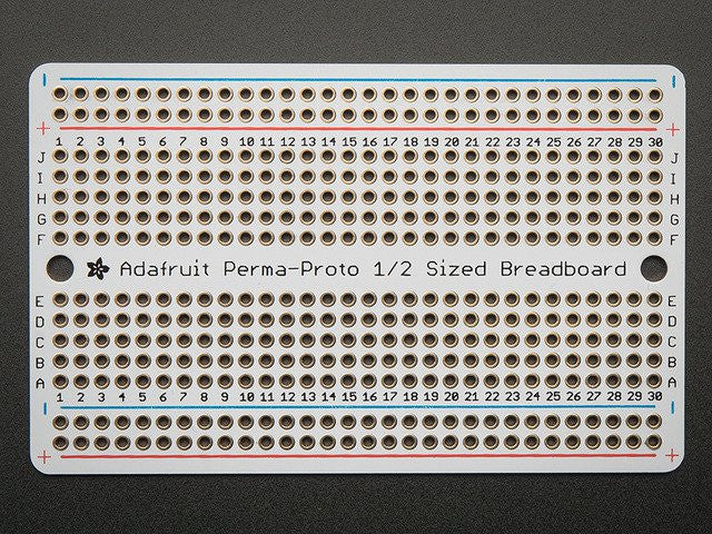 Adafruit Perma-Proto Half-sized Breadboard PCB - Single - Chicago Electronic Distributors