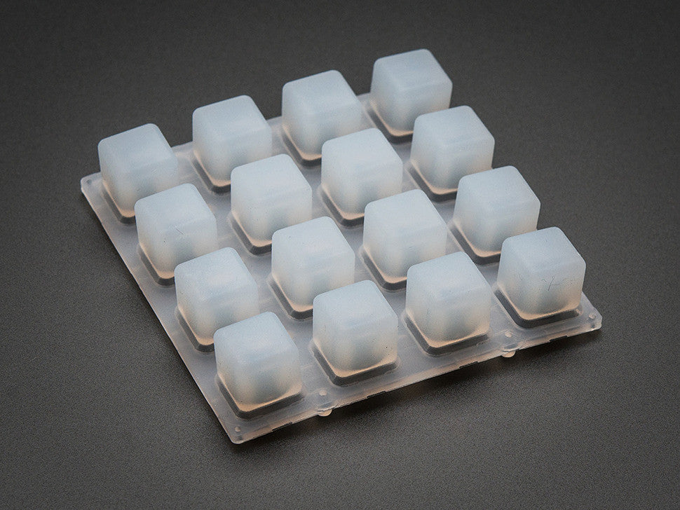 Silicone Elastomer 4x4 Button Keypad - for 3mm LEDs - Chicago Electronic Distributors  - 1