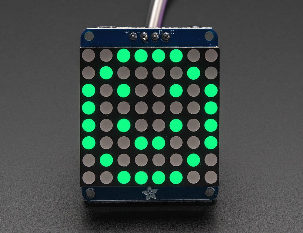 "Adafruit Small 1.2"" 8x8 LED Matrix w/I2C Backpack - Red or Green - Chicago Electronic Distributors  - 1"