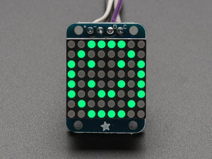 "Adafruit Mini 0.8"" 8x8 LED Matrix w/I2C Backpack - Pure Green - Chicago Electronic Distributors"