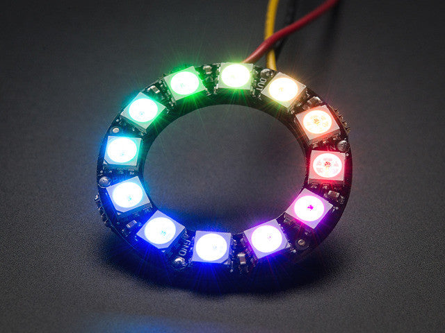 NeoPixel Ring - 12 x WS2812 5050 RGB LED with Integrated Drivers - Chicago Electronic Distributors  - 2