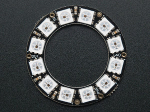 NeoPixel Ring - 12 x WS2812 5050 RGB LED with Integrated Drivers - Chicago Electronic Distributors  - 3